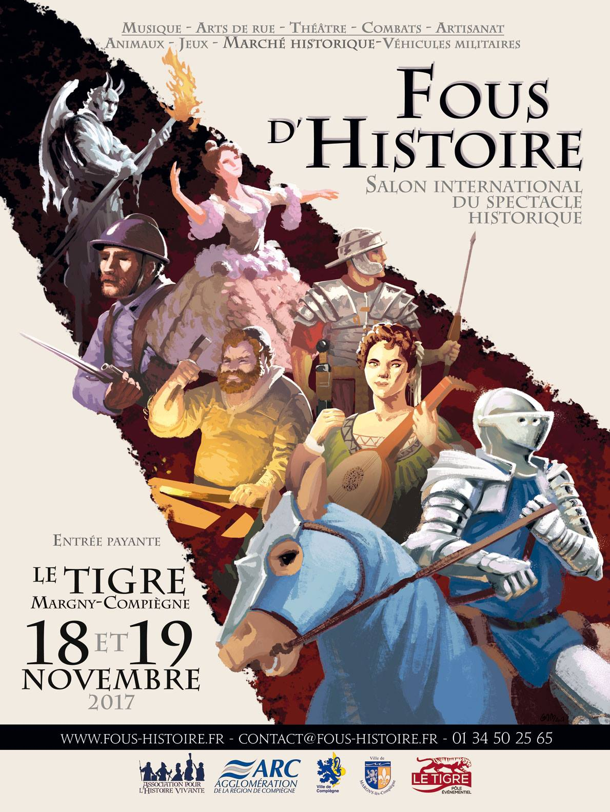 Fous d'Histoire salon international du spectacle historique.