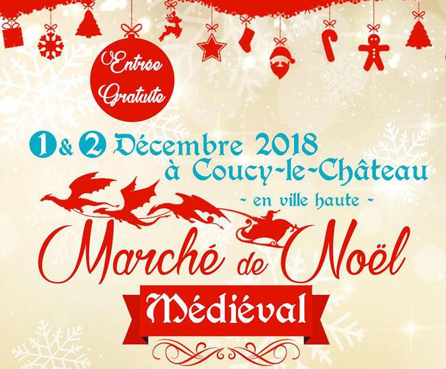 Marché de Noël Médiévale à Coucy-le-Chateau (2018)