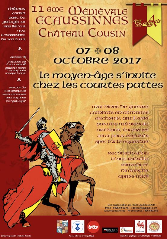 fête médiévale d'Ecaussinnes Affiche 2017
